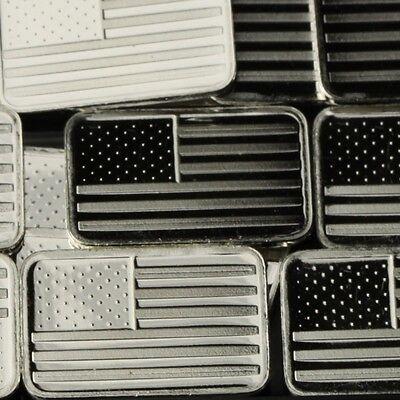 Usa Flag Design Lot Of 10 1 Gram 999 Solid Fine Silver
