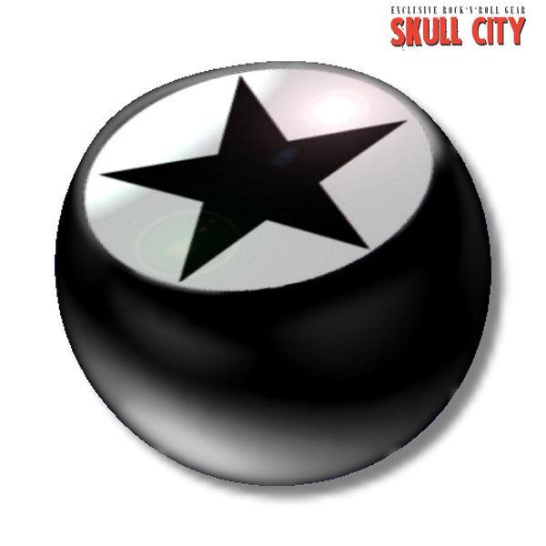 Black Star Black Piercing Ball - Schraubkugel - Kugel Schmuck Tattoo Stern Indie Schmerzen Haben