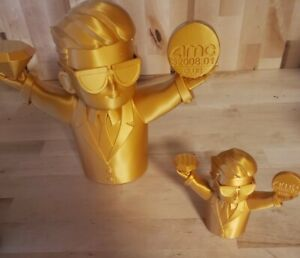 Wallstreetbets Moon Baby Diamond Hands 3D Printed | WSB Stonks | (Gold PLA)