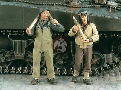 """2 Figures and Tank Ammo Verlinden 1//35 /""""Ammo Supply/"""" German Tankers WWII 1055"""