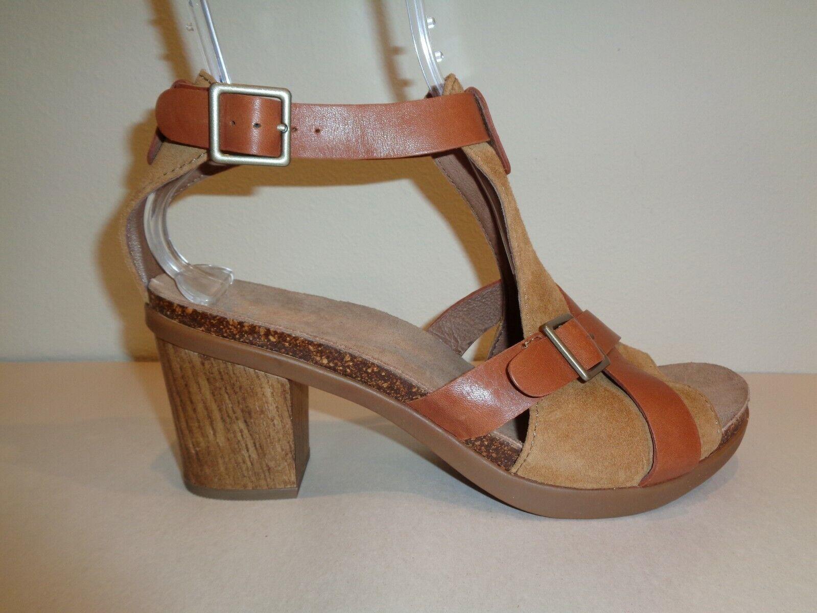 Dansko tamaño 10.5 a 11 Dominique Sandalias De Cuero Gamuza Marrón Nuevo Zapatos para mujer
