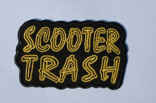 80mm x 45mm No239 SCOOTER PATCH IRON//SEW ON SCOOTER TRASH