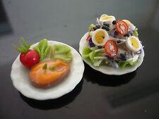 Spaghetti and Waffle on Plate Dollhouse Miniatures Food Supply Deco-13 2.50 cm