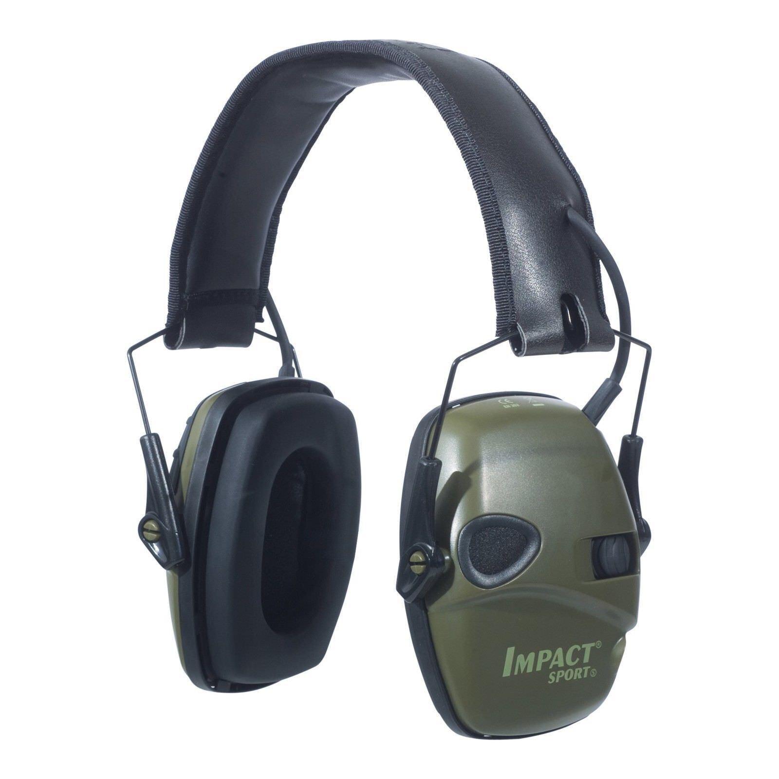 Howard Leight Impact Sport Electronic Ear Muff Grün NRR 22, Classic OD Grün Muff 0028f5