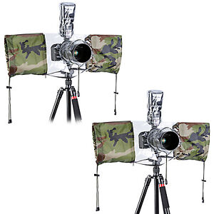 Neewer 2 Pack Camera Protector Rain Cover for DSLR Camera(Camouflage)