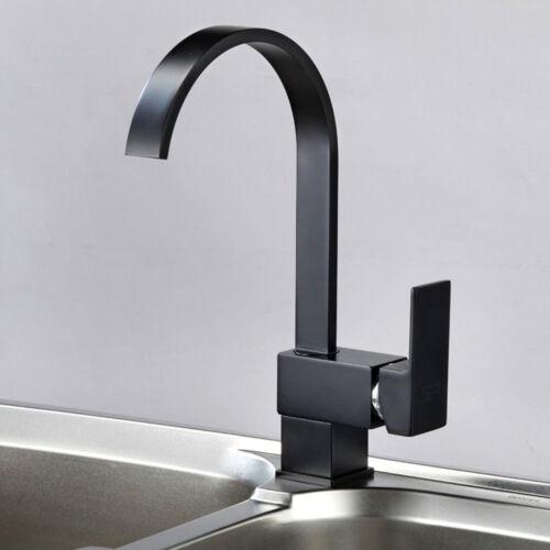 Küchenarmatur Wasserhahn Einhebelmischer Mischbatterie Schwenkbar Schwarz 360°