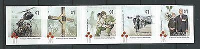 Australien 2016 Vietnamkrieg Selbstklebend Streifen Mit 5 Nicht Gefaßt Senility VerzöGern Briefmarken