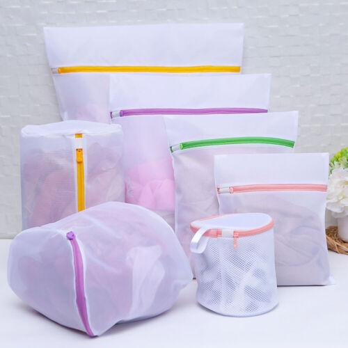 7pcs Mesh Laundry Bags Zipped Wash Bag Underwear Bra Lingerie Travel Organizer