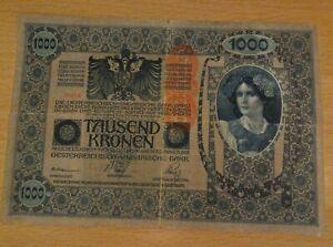 Original-Austria-Tausend-1000-Kronen-Banknote-1902-Large-note