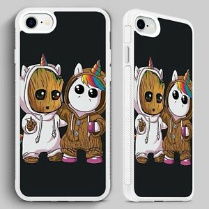 quality design 644a7 08f92 Details about Baby Groot Unicorn Guardians Galaxy QUALITY PHONE CASE for  iPHONE 4 5 6 7 8 X