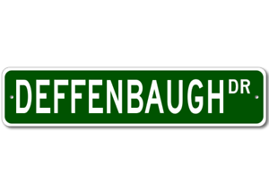 DEFFENBAUGH-Street-Sign-Personalized-Last-Name-Sign