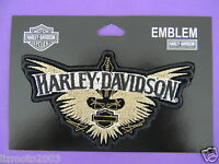 Harley Davidson Patch 5 Inch Journey Wings W/ Bar & Shield, Harley Banner