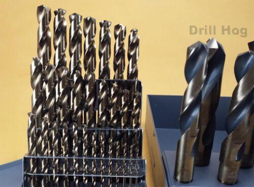 "Drill Hog® 37 Pc Cobalt Drill Bit Set Index M42 1//16/"" 1/"" Lifetime Warranty"