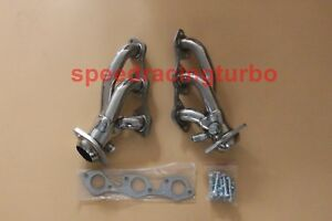 STAINLESS STEEL SHORTY HEADER MANIFOLD//EXHAUST 97-03 FORD F150//HERITAGE 4.2L V6