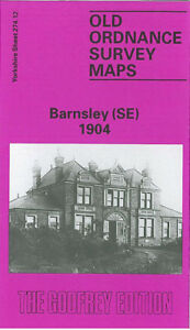 OLD ORDNANCE SURVEY MAP BARNSLEY SE 1904 SHEFFIELD ROAD BRINCKMAN ST HUNNINGLEY