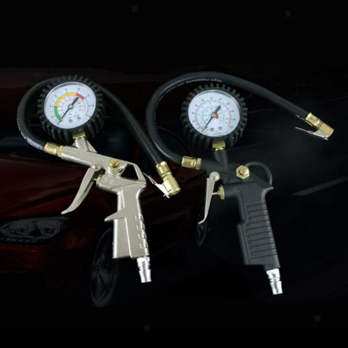 Tire Pressure Gauge Flexible Hose Air Inflator Gun for Car High Precision
