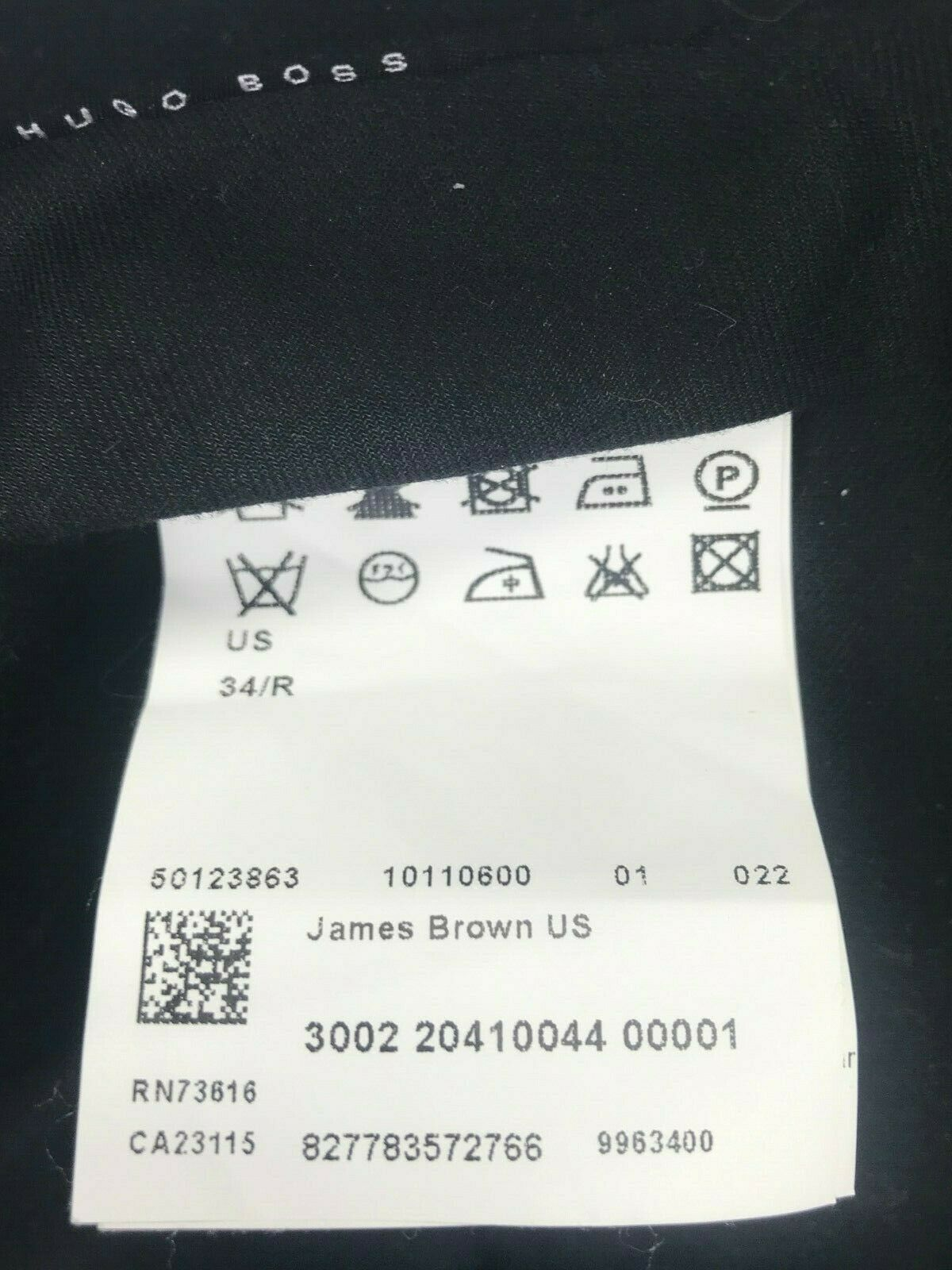 Mens Hugo Boss James Brown Dress Pants SIZE 34Rx3… - image 5