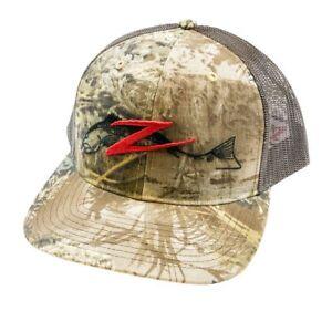 64ba0c85da3c1 Fishing Hat Z Man Logo Trucker Hat Realtree Camo Fishing Hat ZMan Baits Hats    Headwear ...