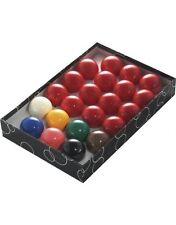 "PowerGlide Classic Standard 22 Snooker Balls Set 57mm 2 1/6 - Boxed"""