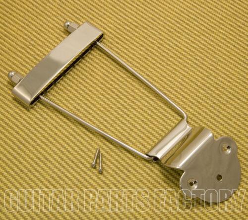 TP-ETL-N Nickel Long Standard Trapeze Tailpiece Hollowbody//Archtop//Jazz Guitar