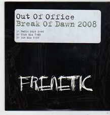 (FJ297) Out of Office, Break of Dawn 2008 - 2007 DJ CD