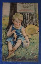 1921 De Laval Cream Separator Calendar with boy fishing - Kendall Wisconsin