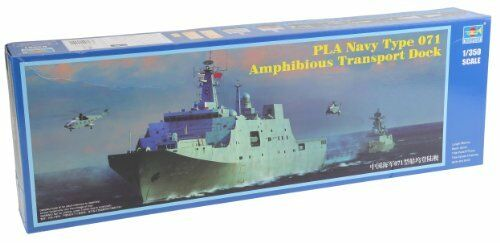 PLA Navy Type 071 Amphibious Transport Dock Plastic Kit 1350 Model TRUMPETER