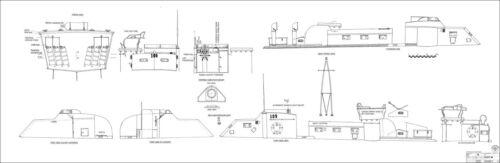 Torpilleur Hors-bord ELCO PT 109 Modèle Plan de bâtiment US NAVY 1:10