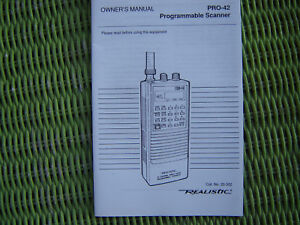 Radio-Shack-Realistic-PRO-42-Programable-Hand-Held-Police-Scanners-Manual