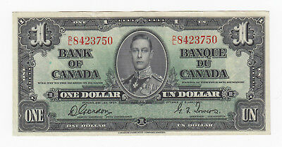 D/l8423750 Wide Selection; S/n 1937 Bank Of Canada $1 Gordon/towers Signature