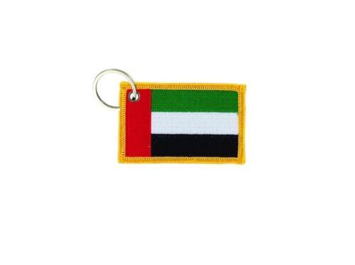 Porte cle cles clef brode patch ecusson badge drapeau emirats arabes unis eau