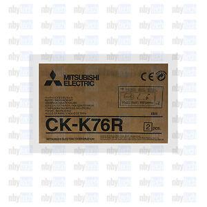 Mitsubishi-CK-K76R-HG-NEW-6-034-Paper-amp-Ribbon-Kit-for-CP-K60DW-S-Photo-Printer