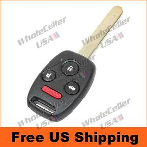 uncut honda civic   remote key fob keyless entry replacement transmitter ebay