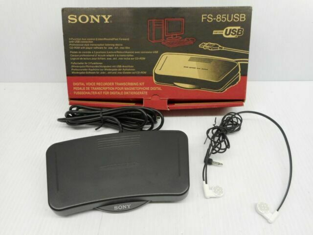 ECS FS-85USB USB Computer Foot Pedal for use with Sony Digital Voice Editor