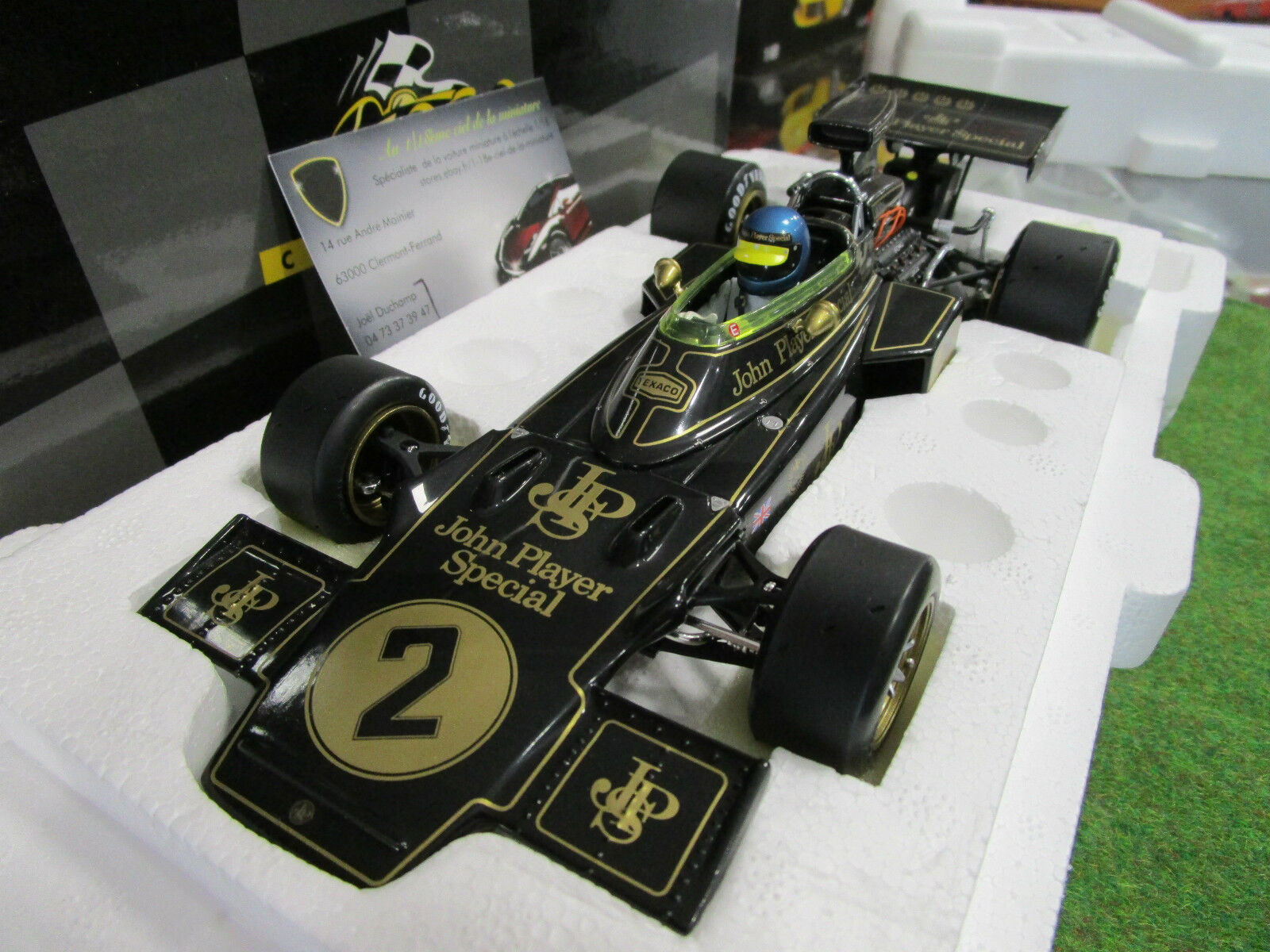 F1 LOTUS FORD TYPE 72D Grand prix Italie 1973 Peterson 1 18 EXOTO 97031 formule1