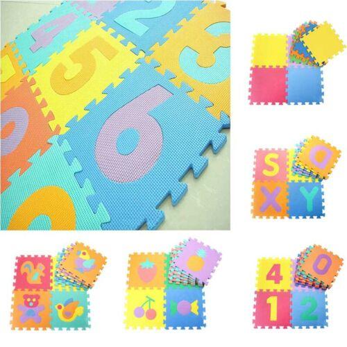 10pcs Baby Puzzle Carpet Fun Play Floor Mat EVA Kids Numbers Animals Foam Pads