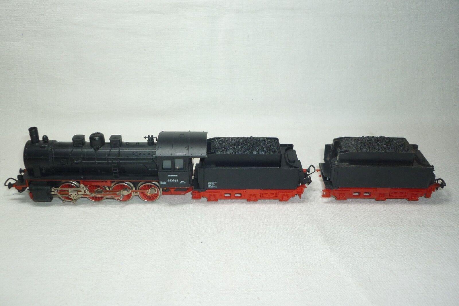 Piko Escala H0 -tender - Locomotora de Vapor Dr 55 3784 con 2 Extensor -