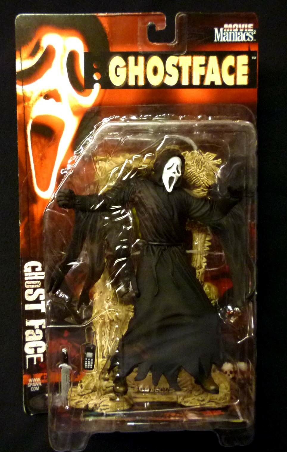 McFarlane Toys The Scream Ghost Face Movie Movie Movie Maniacs Series 2 AF & Poster Horror 6e0296