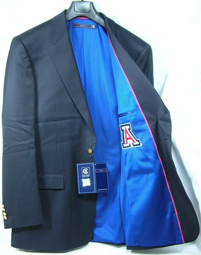 Arizona University Team Blazer Licensed Logo Sport Coat Short- Regular - Tall