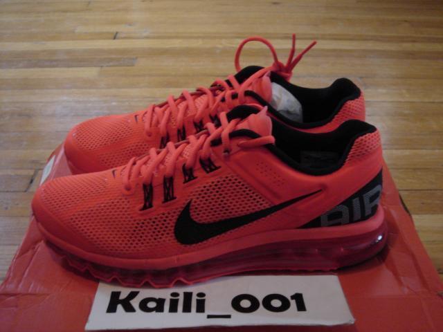 Nike air max   2013 taglia volt 554886-801 rosso cremisi powerwall le b