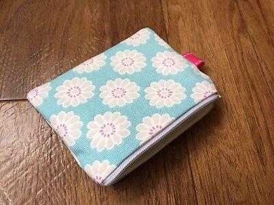 11x9cm Made in Clarke E Clarke Ditsy ROSE tessuto Fatto a mano Mini Portamonete