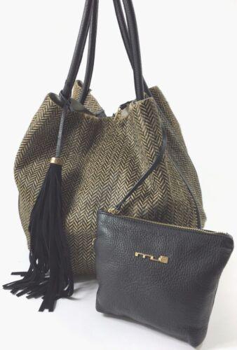 Fur Shoulder Large Bucket Italian Womens Handbag Raw Innue Leather tP1H7qax