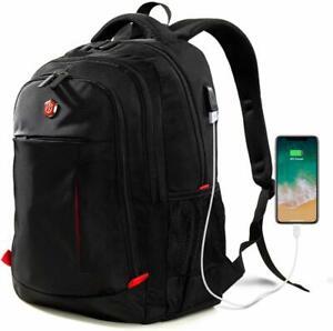 USB Port Laptop Backpack Travel Waterproof Computer Bag, Anti-theft School Bag