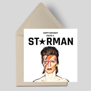 Handmade Personalised David Bowie Music Funny Birthday Card Husband Him Her Ebay
