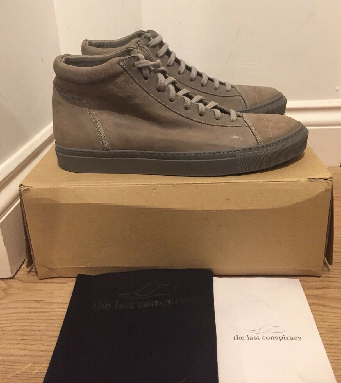 THE LAST Trainers CONSPIRACY Jorge Leather Hi Top Trainers LAST Sneakers UK8/EU 42  £214 9eed31