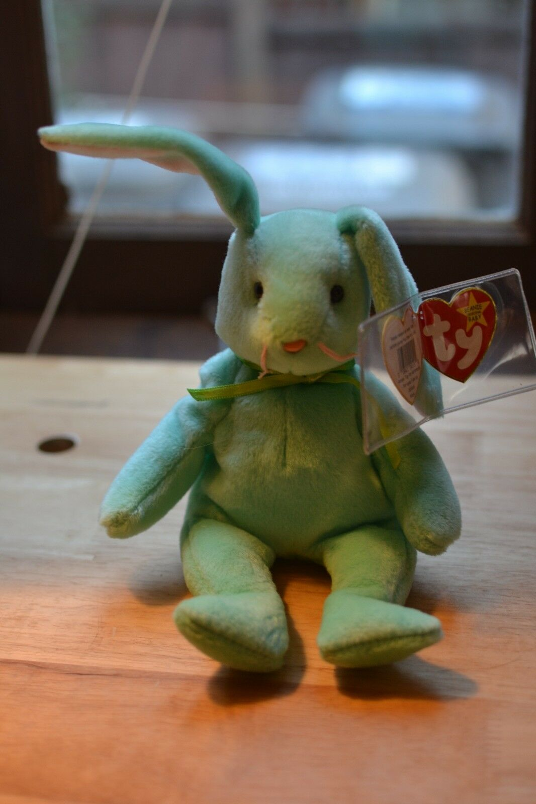 RARE Ty Beanie Baby Flippity the Bunny, 1996 with PVC Pellets, Mint Condition