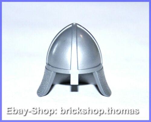 NEU // NEW 3844 Lego Helm Ritter silber Minifig Headgear Helmet Flat Silver