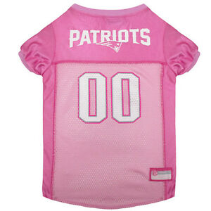New-England-Patriots-Licensed-NFL-Pets-First-Dog-Pet-Mesh-Pink-Jersey-Sizes-XS-L