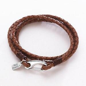 Image Is Loading Man 039 S Leather Wrap Bracelet With Engraving