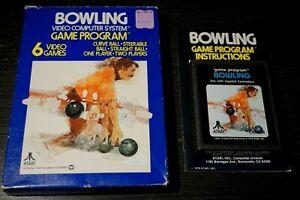 Atari 2600 Bowling Complete In Box CIB
